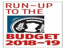 Run-up to the Budget 2018-19