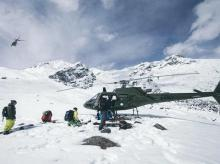 Pakistan Army deploys helicopters to rescue trapped climbers | Photo: Pakistan Defence, Twitter