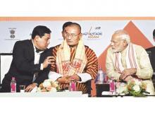 Sarbananda Sonowal, Dasho Tshering, Narendra Modi