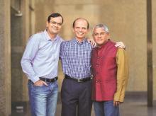 (From left) Sanjay Swamy, Shripati Acharya and Amit Somani