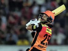 Hyderabad : Sunrisers Hyderabad's batsman Shikhar Dhawan plays a shot against Rajasthan Royals during an IPL 2018 cricket match at Rajiv Gandhi International Stadium in Hyderabad