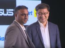 Kalyan Krishnamurthy, CEO, Flipkart and Jerry Shen, CEO, Asus