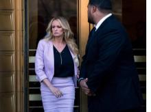 Actress Stormy Daniels leaves federal court following a hearing Monday in New York |  Photo: AP/PTI