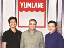 startup Yumlane, yumlane, startup, fastfood,pizza, momos, Yumlane pizzas, FMCG, Orios Ventures and angel investor Binny Bansal, Yumlane founder Hitesh Ahuja, co-founders Rahul Kumar, Rueben Ghosh