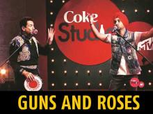 Gurdas Maan (left) and Diljit Dosanjh performing on Coke Studio India