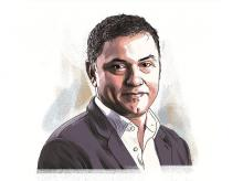 Nikesh Arora, CEO and Chairman, Palo Alto Networks. Illustration: Ajay Mohanty