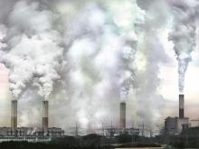 Factory, pollution, smoke