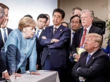 trump merkel, G7
