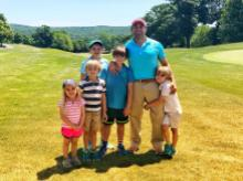 DOnald Trump Jr with his kids on Father's Day. Photo: Twitter