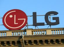 The LG logo is seen on a building roof in Minsk, Belarus on September 12, 2016. (Photo: Reuters)