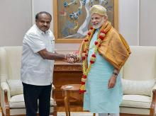 Narendra Modi, HD kumaraswamy