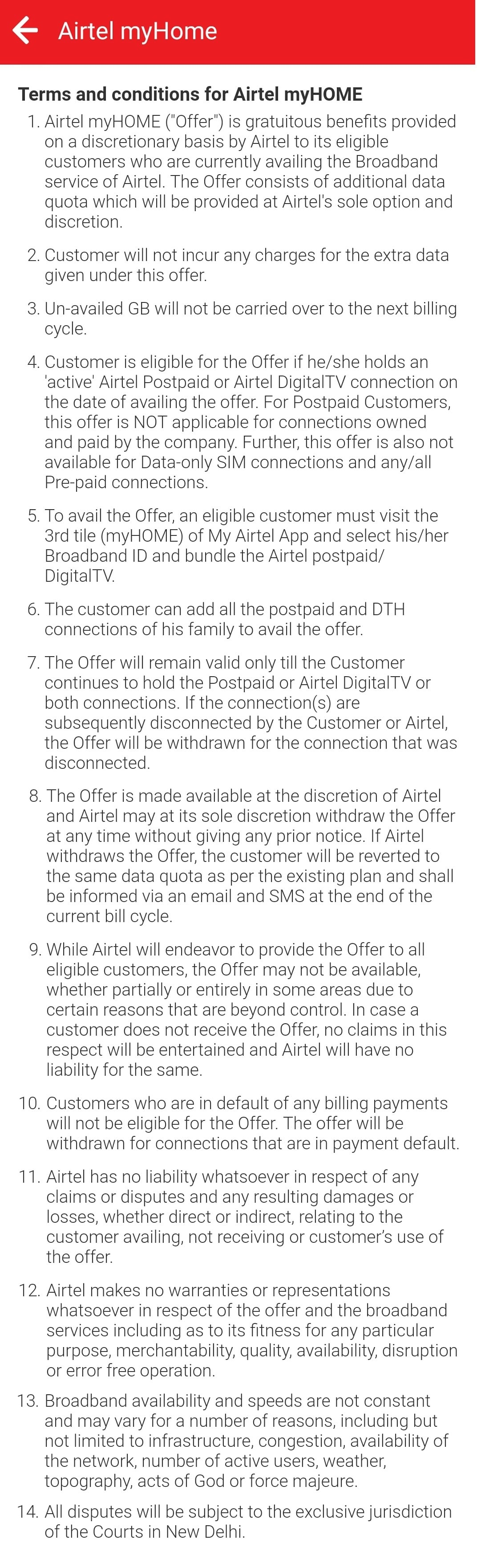 Airtel offers unlimited broadband data for bundling postpaid