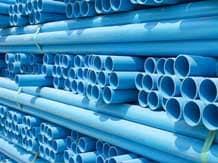 PVC pipes image via Shutterstock.