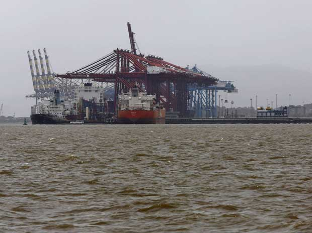 A general view of the Jawaharlal Nehru Port Trust (JNPT) in Mumbai