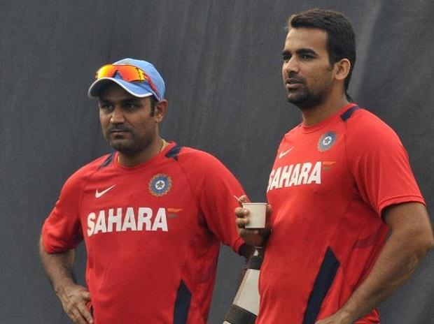 Virender Sehwag and Zaheer Khan