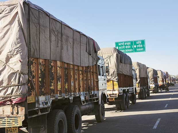 Trucks bound for other states passing through Delhi will now have to pay a green tax for adding to the city's pollution
