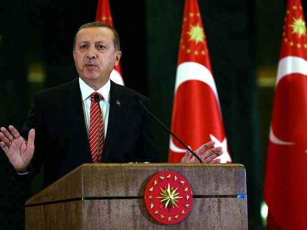 Turkish President Recep Tayyip Erdogan during a meeting at presidential palace in Ankara, Tuesday, Nov. 24, 2015 AP/PTI