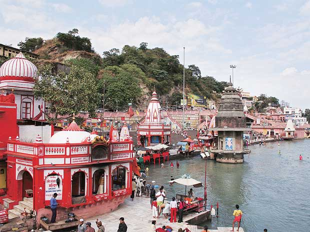 A view of the Ganga in Haridwar