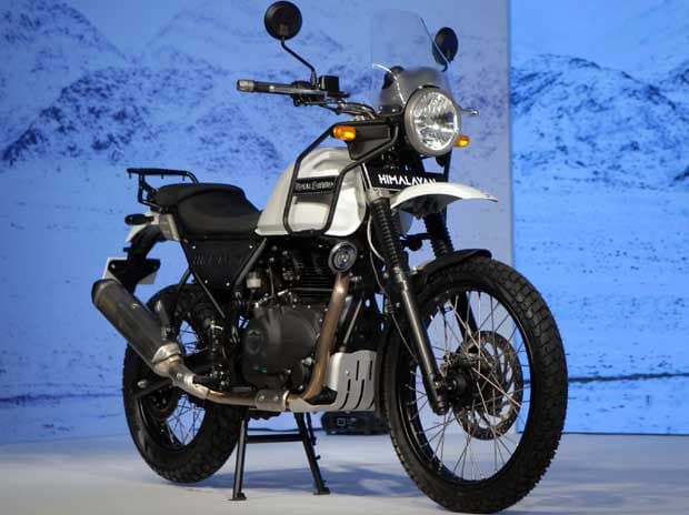 The 411cc Himalayan was launched in Mumbai on Wednesday, March 16, 2016. Picture: Kamlesh Pednekar