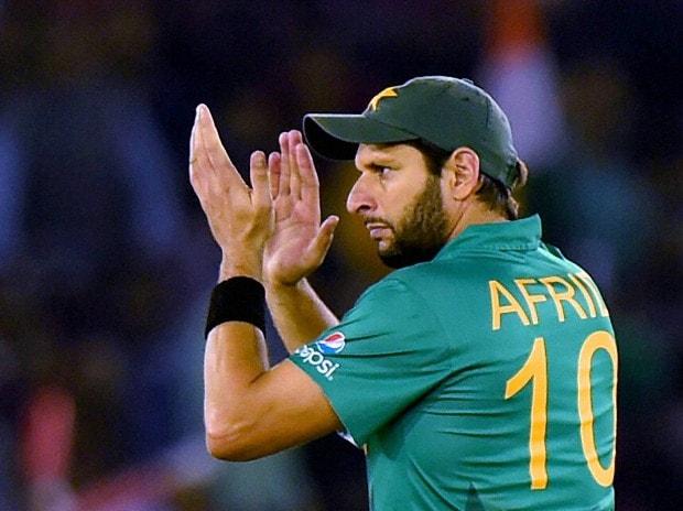 Pakistani Cricket Captain Shahid Afridi  during the ICC World T20 match between New Zealand v Pakistan  at PCA  Stadium Mohali