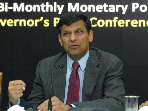 RBI Governor Raghuram Rajan during a press conference to announce the second bi-monthly monetary policy statement at RBI headquarters in Mumbai