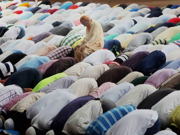 Muslims offer namaz during the holy month of Ramadan