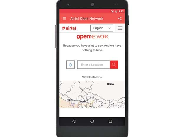 Many gaps in Airtel network app