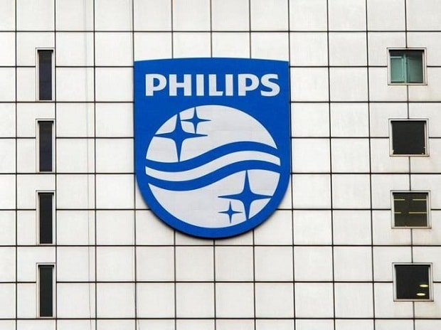 A Philips logo is seen at Philips headquarters in Amsterdam. Photo: Reuters