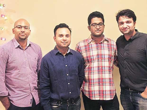 Bombay Shaving  co-founders  (from left) Shantanu Deshpande, Rohit Jaiswal, Deepu Panicker and Raunak Munot