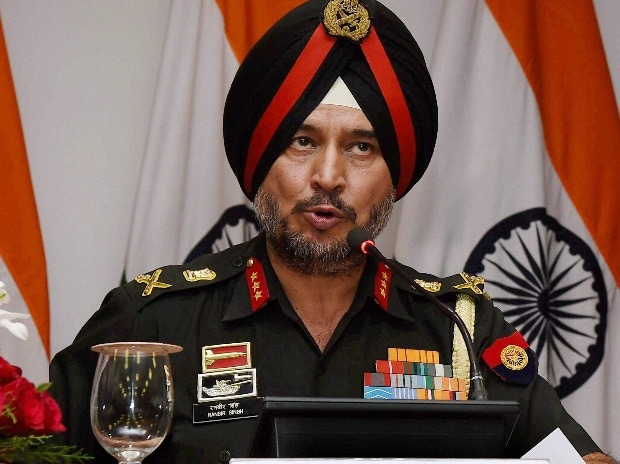 Director General Military Operations Ranbir Singh addresses a Press Conference in New Delhi on Thursday. India conducted Surgical strikes across the LoC in Kashmir on Wednesday night.