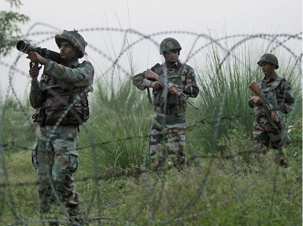 Army soldiers patrol near the highly militarized Line of Control dividing Kashmir between India and Pakistan, in Pallanwal sector, about 75 kilometers from Jammu