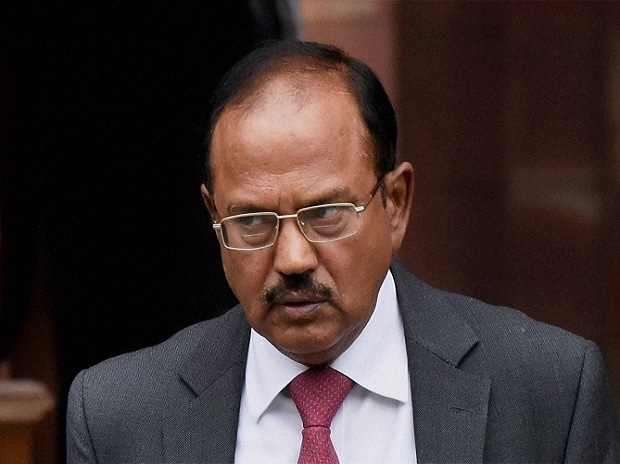 NSA Ajit Doval after a Cabinet meeting at South Block in New Delhi. Photo: PTI