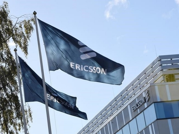 Flags with Ericsson logo are pictured outside company's head office in Stockholm, Sweden (Image: Reuters)