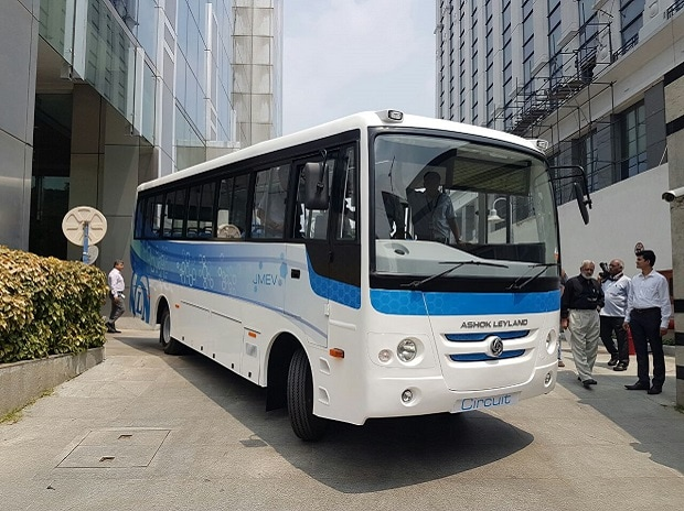 Ashok Leyland unveils its first zero-emission electric bus that has been entirely made in India