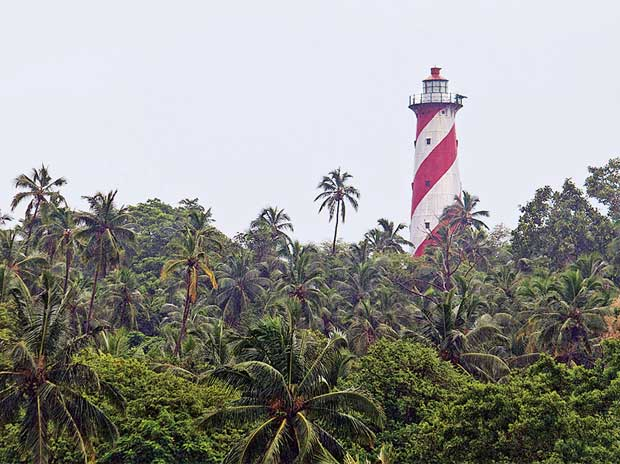 The lighthouse on North Bay Island in Andaman