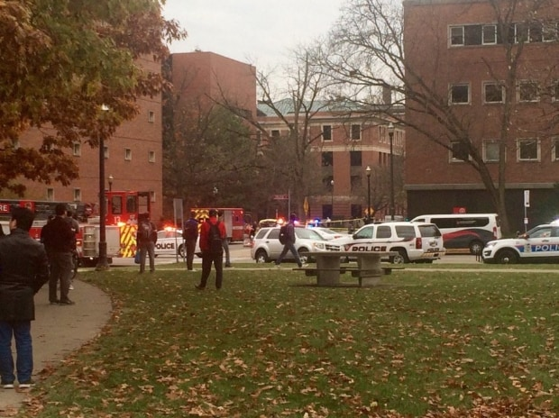 An image of the Ohio State University campus during lockdown