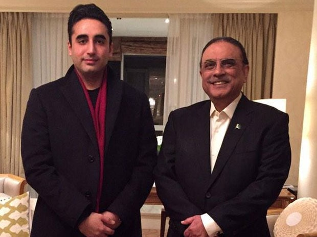 Pakistan Peoples Party chairman Bilawal Bhutto-Zardari and former president Asif Ali Zardari. Photo: Twitter (@BBhuttoZardari)