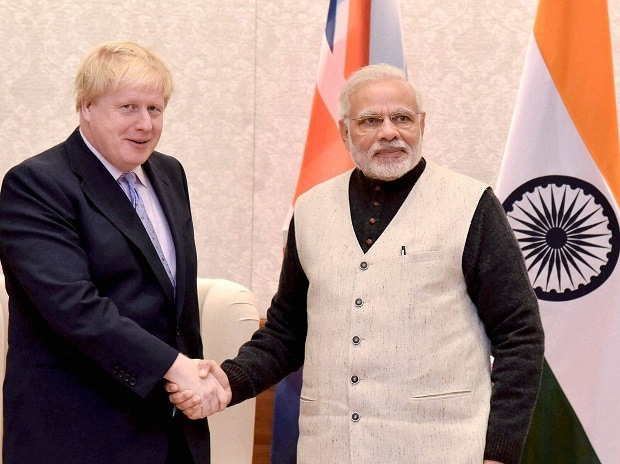 Boris Johnson, Narendra Modi
