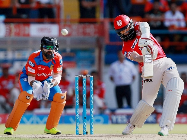 File photo: Kings XI Punjab batsman Hasim Amla plays a shot during the IPL 2017 match against Gujarat Lions at the Saurashtra Cricket Association Stadium in Rajkot
