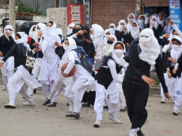 Image result for Female stone pelters in Jammu