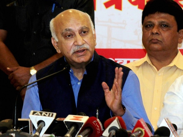 Minister of State for External Affairs M J Akbar addresses a press conference in Nagpur, Maharashtra. Photo: PTI