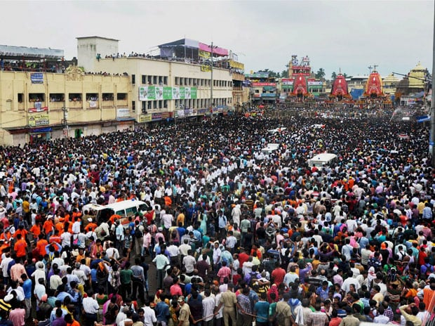 In pics: Thousands of devotees throng Puri to witness Jagannath Rath Yatra