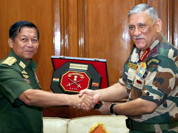 Bipin Rawat, Indian Army, U Min Aung Hliang, Myanmar