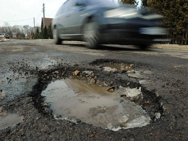 Over three years, 31,681 accidents were reported due to potholes