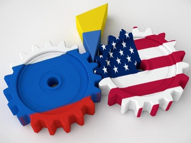 Russia, US, flag