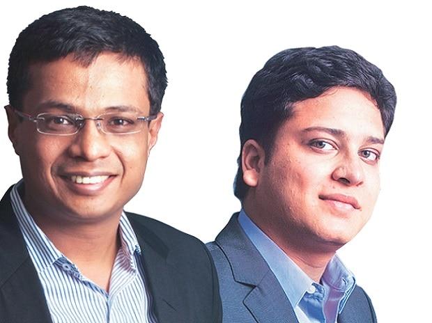 Sachin Bansal (left) and Binny Bansal