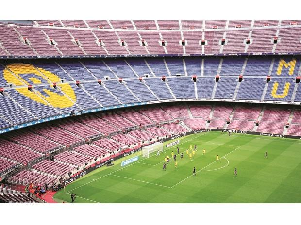 The clashes prompted Barcelona to announce the Las Palmas match would be played in front of an empty Nou Camp stadiumphoto: reuters