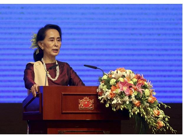 Aung San Suu Kyi. Photo: PTI
