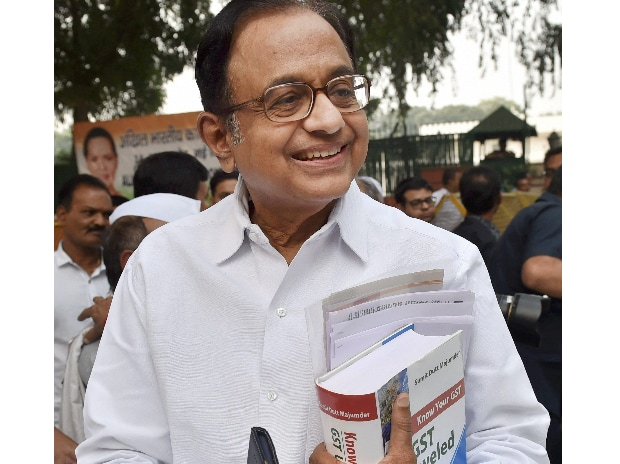 Senior Congress leader P Chidambaram leaves after atteding a meeting with Vice President Rahul Gandhi at AICC headquarters in New Delhi. (Photo: PTI)