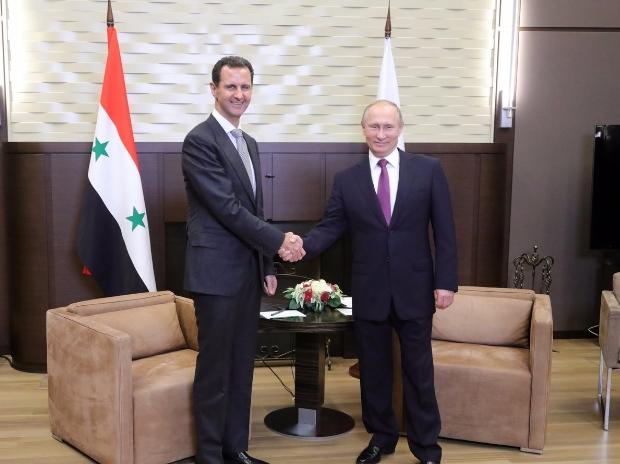 Vladimir Putin, Bashar-al-Assad
